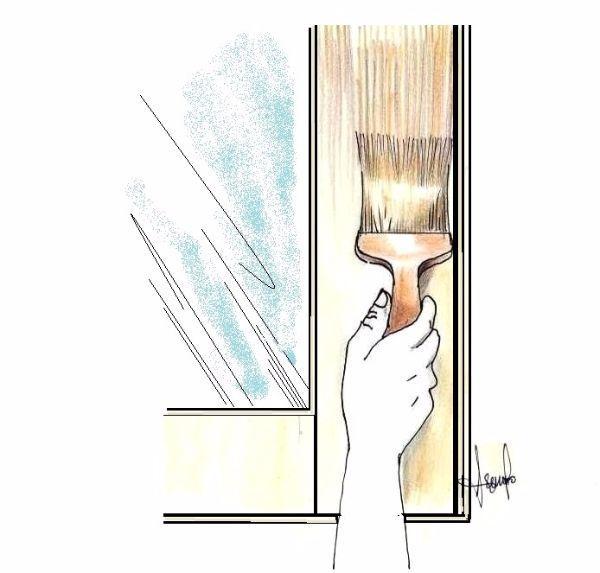 Verniciatura finestra in legno