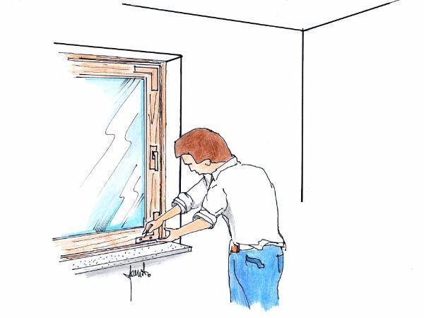 Manutenzione finestra in legno
