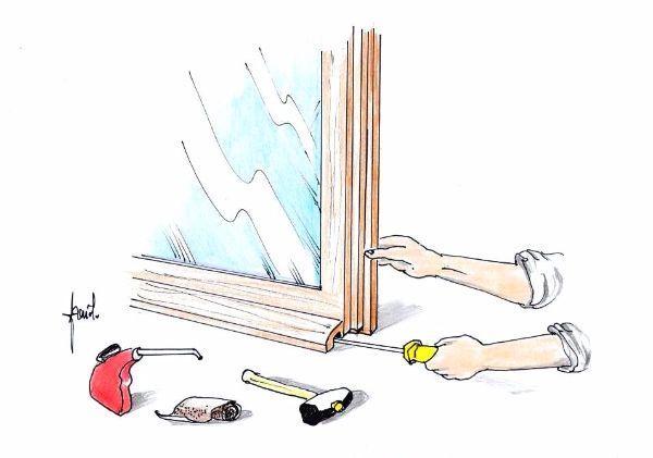 Manutenzione fai da te infisso in legno