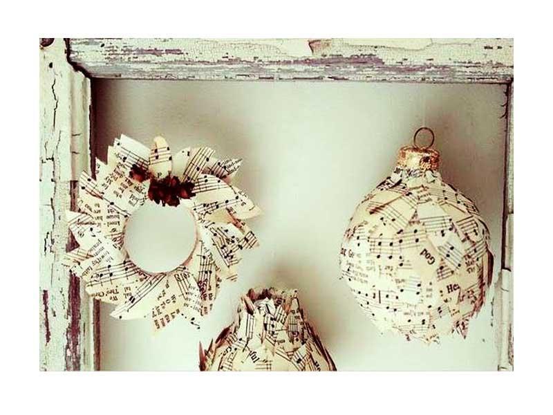 Palle di polistirolo e carta, by pinterest