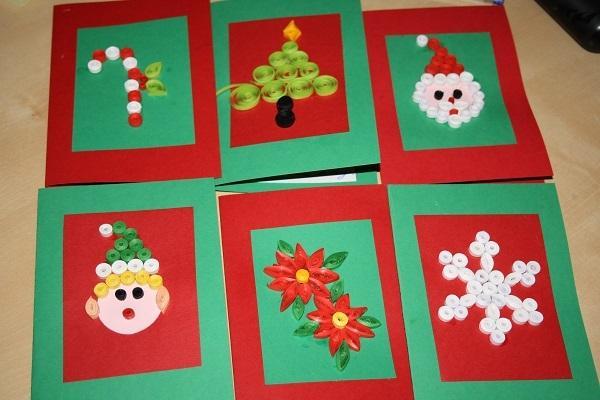 Biglietti di auguri per Natale da whizzywardoursclassblog.com