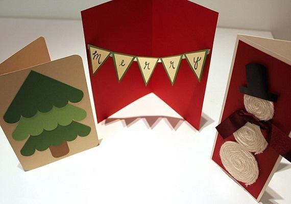 Cartoncini colorati per Natale, da diykidshouses.com