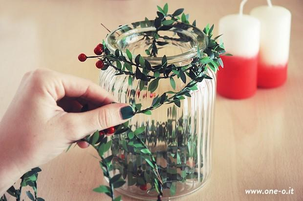 Centrotavola natalizio fai da te, da one-o.it