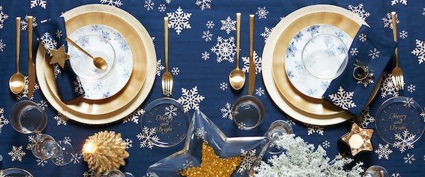 Posate dorate natalizie, da Zara Home