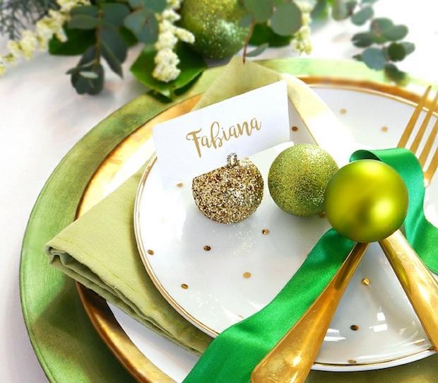 Segnaposto per il pranzo di Natale, da birdsparty.com