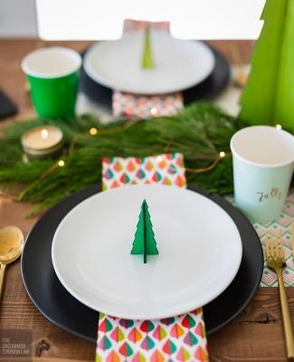 Alberelli di Natale nel piatto, da birdsparty.com