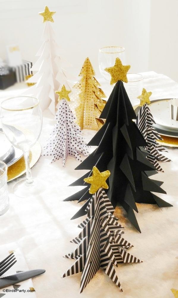 Alberi tavola di Natale, da birdsparty.com