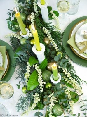Centrotavola green, da birdsparty.com