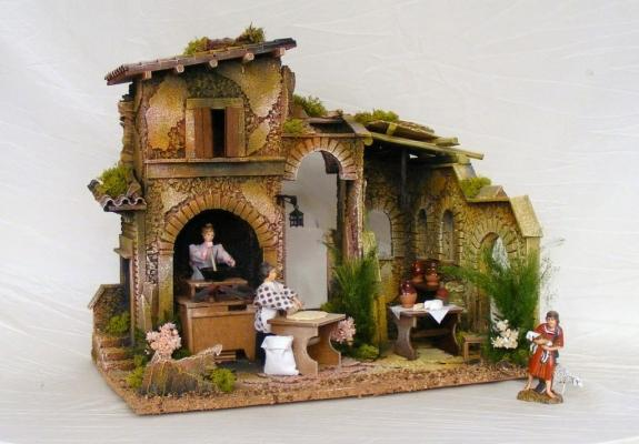 Borgo con donne per presepe by Christmas Planet