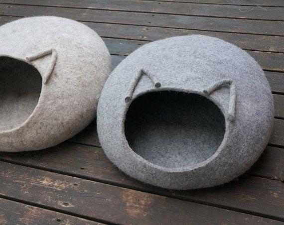 Cuccia in feltro per il gatto regalo Natale in vendita su Etsy