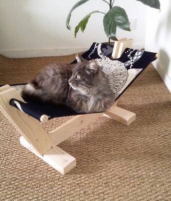 Amaca per gatti, proposta regalo di design per Natale su Etsy