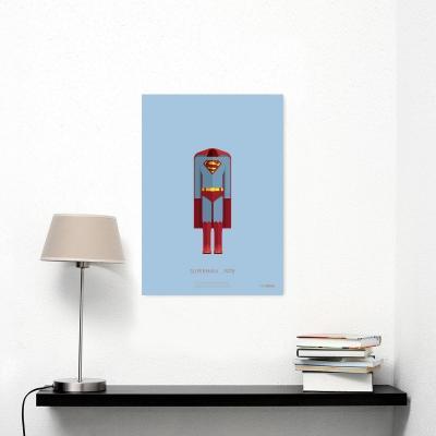 Idea regalo natalizia, stampa di design di Superman, Iron Gut