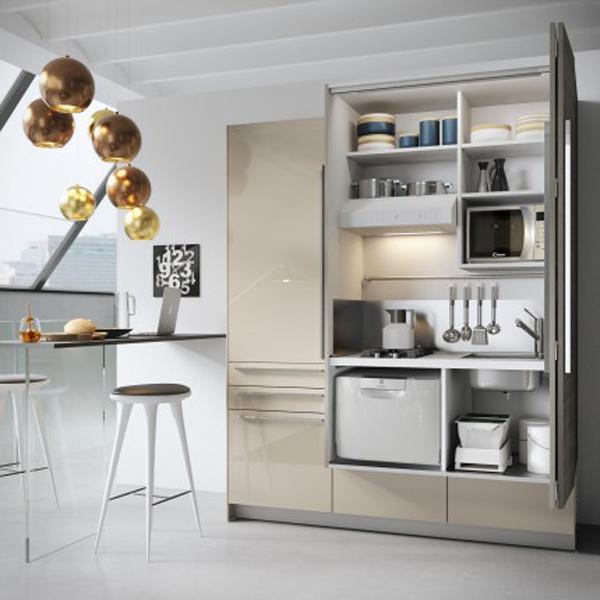 Cucina moderna a scomparsa MiniSystem- Snaidero