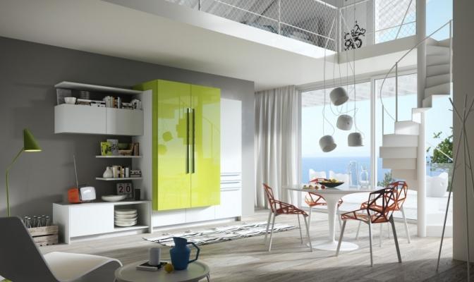 Cucina moderna a scomparsa- Snaidero