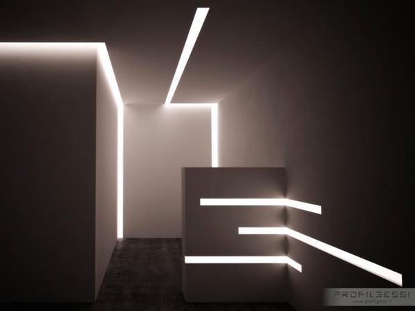 Ripostiglio illuminato con tagli luce by LUCELED