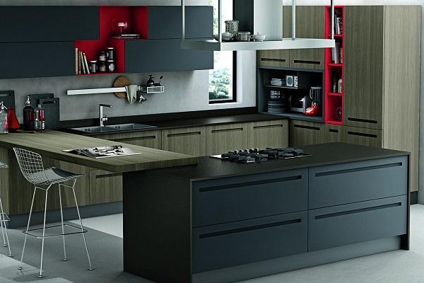 Cucina moderna in legno Mood di Stosa