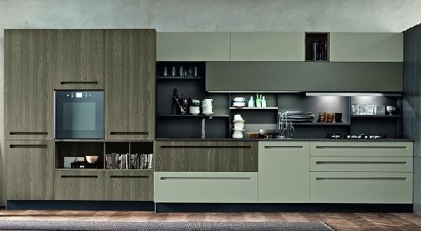 Cucina in legno frontale Mood di Stosa