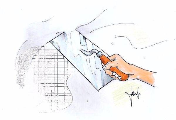Rasatura con rete