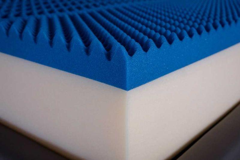 Imbottitura antibatterica e anallergica del materasso memory foam di Lamantin