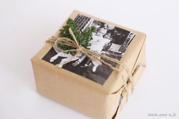 Pacchetti regalo natale con foto, da One-o.it
