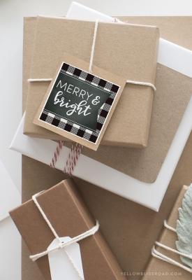 Pacchetti regalo natalizi creativi, da yellowblissroad.com