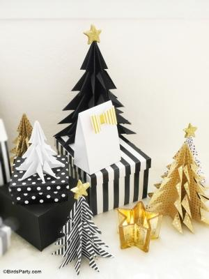 Pacchetti natalizi con alberelli, da blog.birdsparty.com