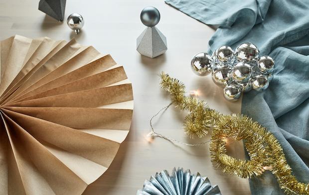 Decori natalizi per la tavola, da Ikea