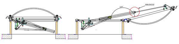 Disegni costruttivi dell'evacuatore Smoke Lux di Poliform Lucernari