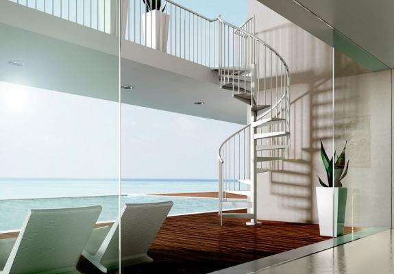 5 modelli di scale esterne for Sala di piani quadrati a chiocciola