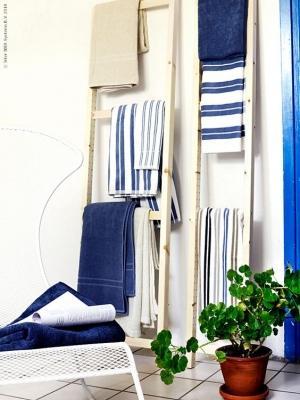 Scale per sistemare gli asciugamani, da Ikea