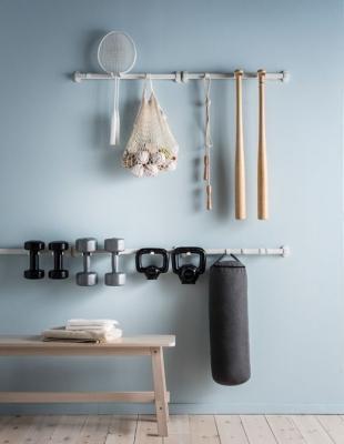 Creare una mini palestra in casa, da Ikea