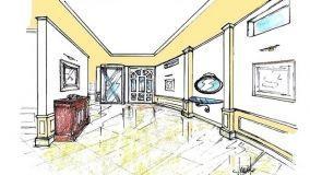Progetto ingresso villa stile classico