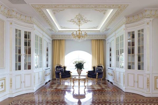 Progetto ingresso villa stile classico for Arredamenti case eleganti