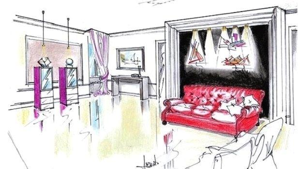 Progetto d'arredo per un living in stile contemporaneo