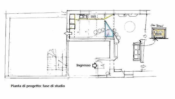 Arredo soggiorno moderno: studio progettuale