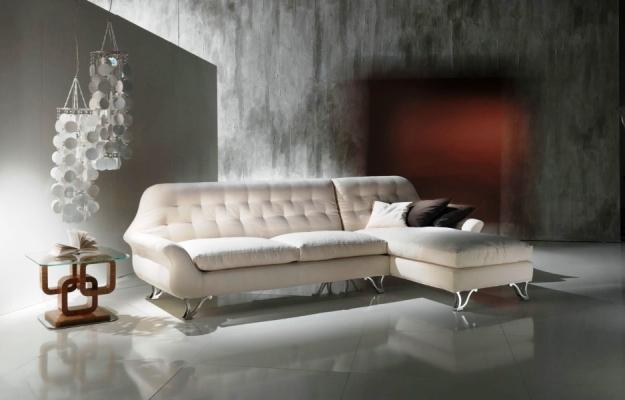 Salotto contemporaneo: divano Cherubino Carpanelli