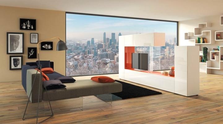 Progetto d 39 arredo living stile contemporaneo for Mobili lago