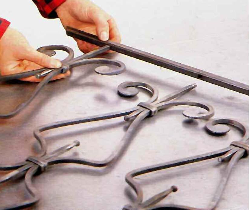 Cancelletto in ferro: composizione del telaio