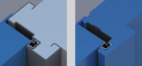 Porta REI Proget di Ninz: particolare dell'ancoraggio a muro