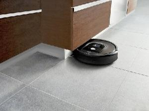 Robot Roomba in ambiente