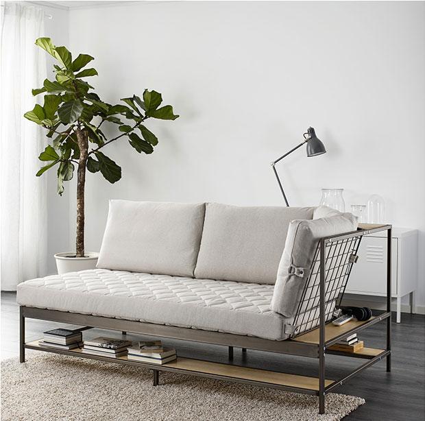 Divano industrial chic di Ikea