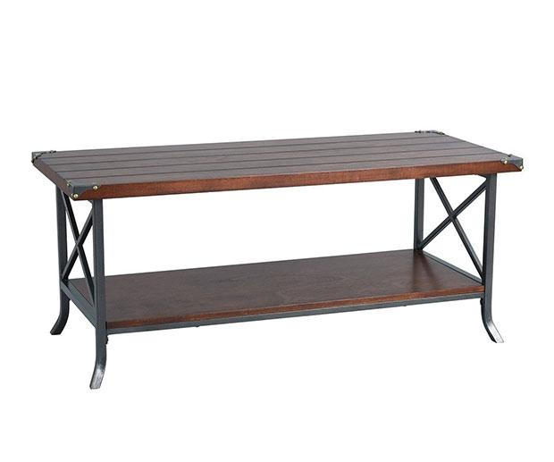 Tavolo in legno e ferro industrial chic da Amazon