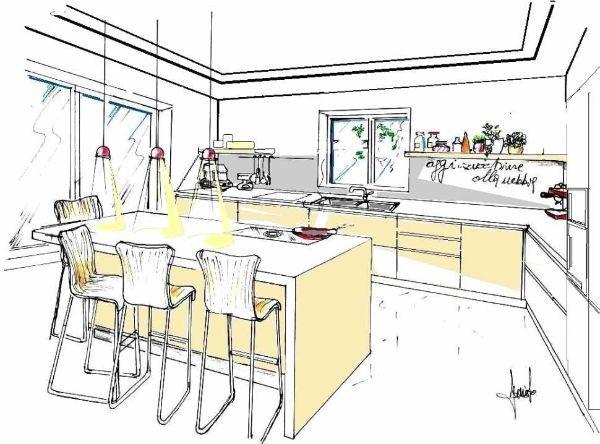 Progetto per cucina minimalista