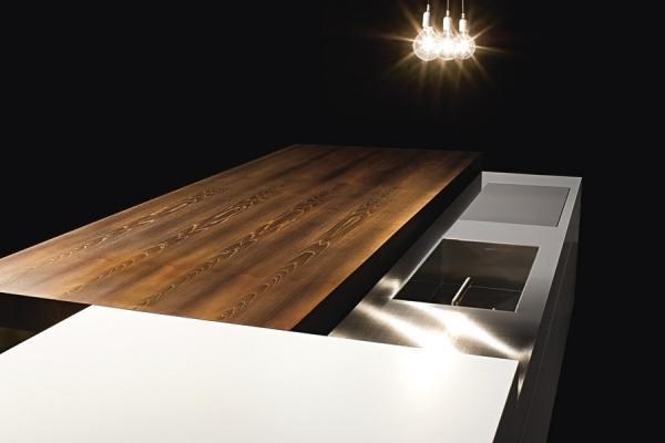 Minimal Cucine: top legno scorrevole