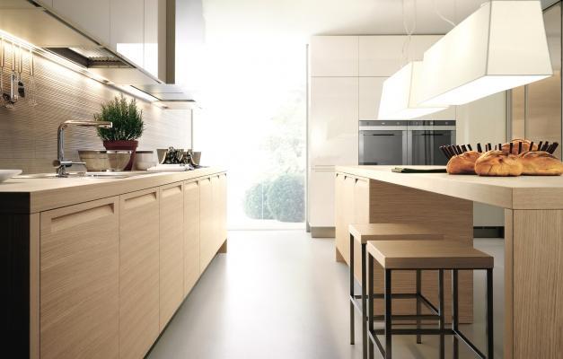 Cucina minimal Antares legno e laccato