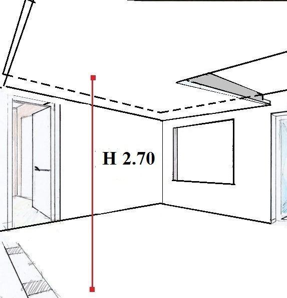 Controsoffitto sospeso: altezza minima ambienti abitabili
