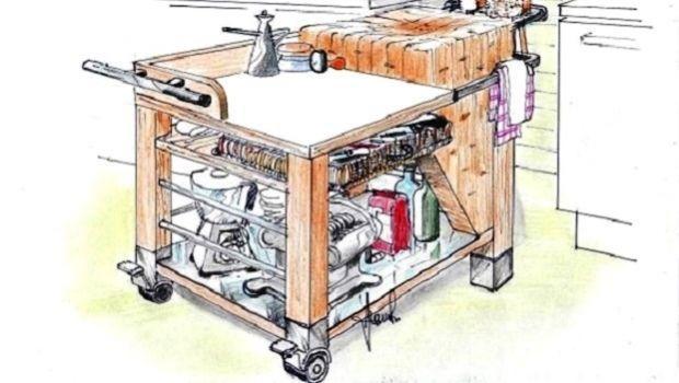 Carrello da lavoro in cucina: come realizzarlo in fai da te