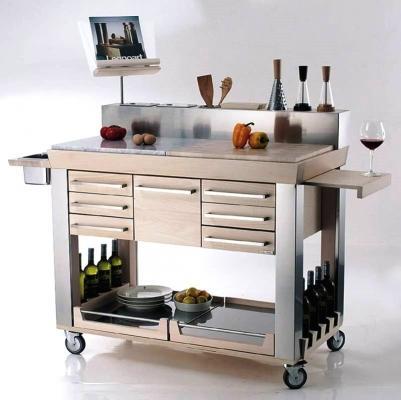 Carrello da cucina professionale Platinum Legnoart