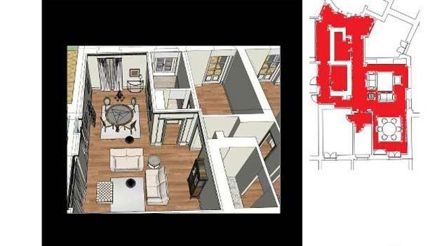 Idee progettuali per creare un'armonica fusione di due appartamenti