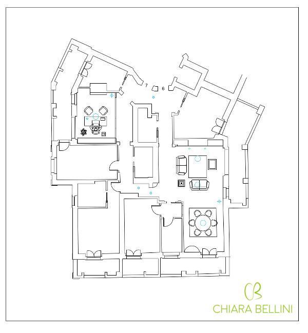 Come unire due appartamenti - prima soluzione progettuale